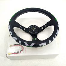 Customized Logo 350mm Caliber Ultrafiber Material Car Steering Wheel For Russian General Purpose Modified