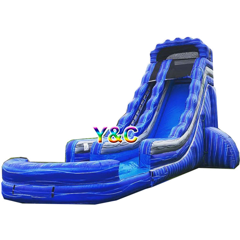 China blue splash wave adult kids swimming pool inflatable water slide repair kit
