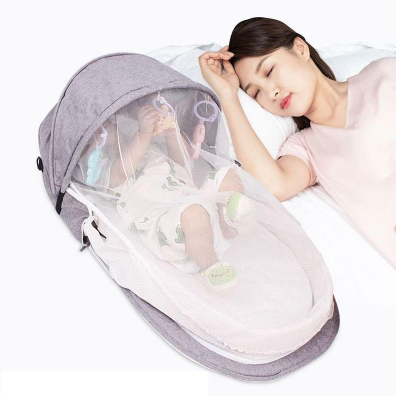 Dropshipping Baby Nest Bed Portable Crib Mosquito Net Travel Bed Infant Toddler Cotton Cradle for Newborn Baby Bed Baby cot