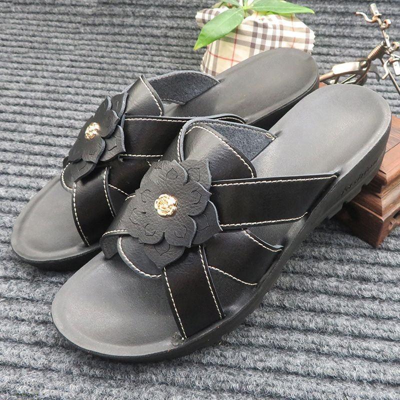 Myseker Black Genuin Summer Sandals Outdor Embellished Female Sandals Design Plateform Brazil De Sandalias Femme Personaliza