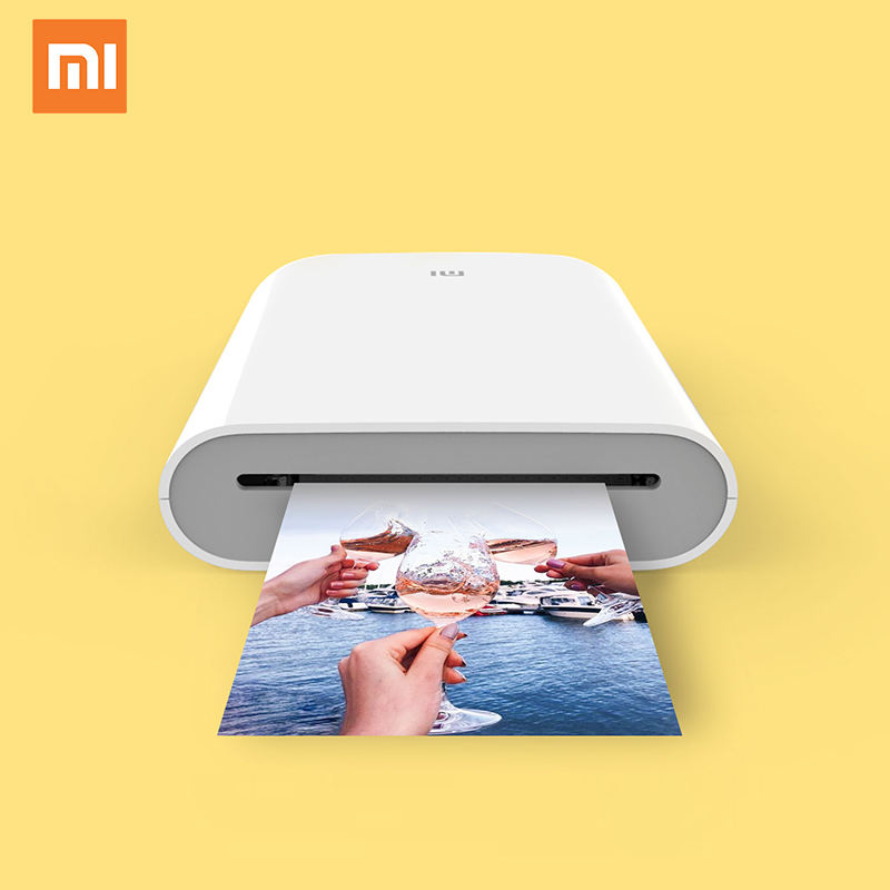 Xiaomi Mijia AR Printer 300DPI Portable Photo Mini Blue tooth Mobile Phone Photo Printer DIY Xiaomi Printer Pocket Photo