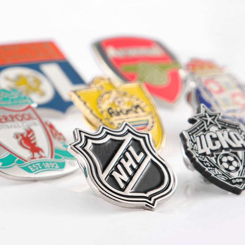 Custom Football Club Metall Harte Emaille Revers Pin Abzeichen