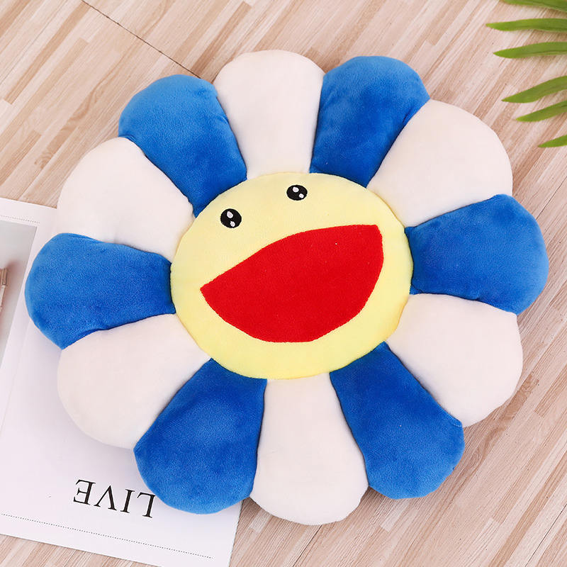 100cm Super Big Plush Sun Flowers Mat Colorful Plush Rainbow Sunflower Pillow