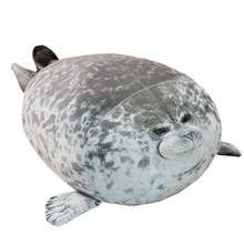 cute stuffed cotton soft plush seal sea animals toy pillow seal pillow hugging fuzzy pillows grey pendrive sea lion