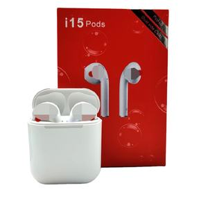Factory Wholesale bt Stereo Earphone Tws Wireless Earbuds i15 Sweatproof Headset with Charging box