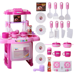 Hot Sale New Kid Pretend Play Little Chef Plastic Kitchen Cooking Play Set Toys