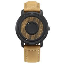 Simple Magnet Ball Japan Quartz Leather Watch Strap Band Movement Watches Price