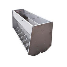 Automatic Stainless Steel Pig Double Sided Feeder Swine Hay Feed Trough Hog Feeding Equipment