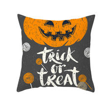 45*45cm 2019 Halloween Decoration Pumpkin Halloween Baby Decoration Halloween Party Bat Witch Owl Pillow Case Supplies