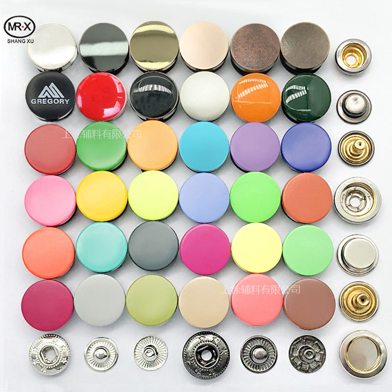 Brass [ Buttons Snap Button ] Metal Buttons Producer Metal Buttons Customized Brand Logo Size Color Buttons For Clothes Snap Button