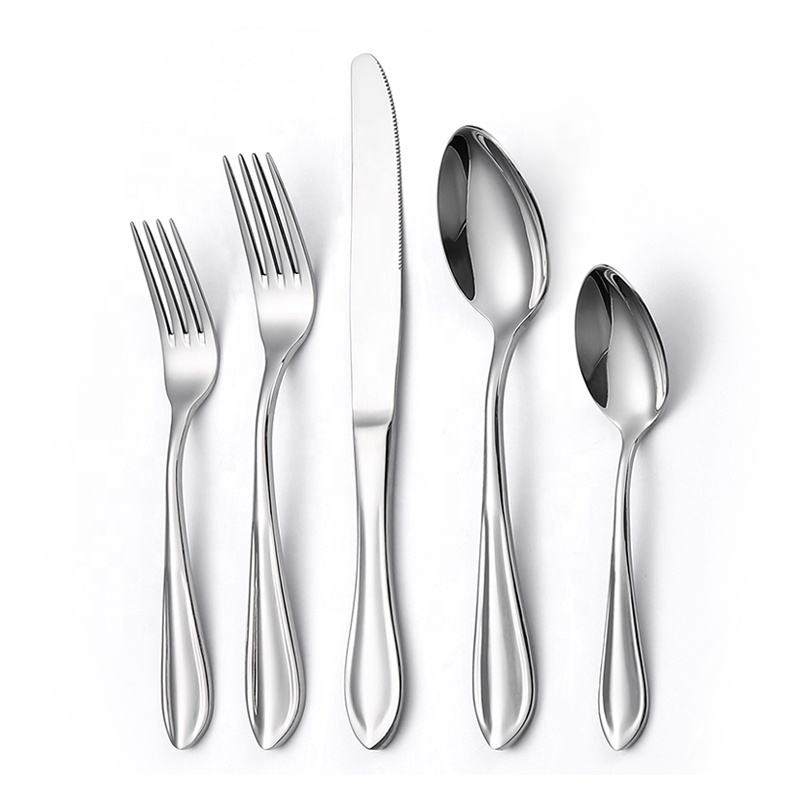International 5pcs Silverware Custom Thick cutlery 18/10 stainless steel flatware sets