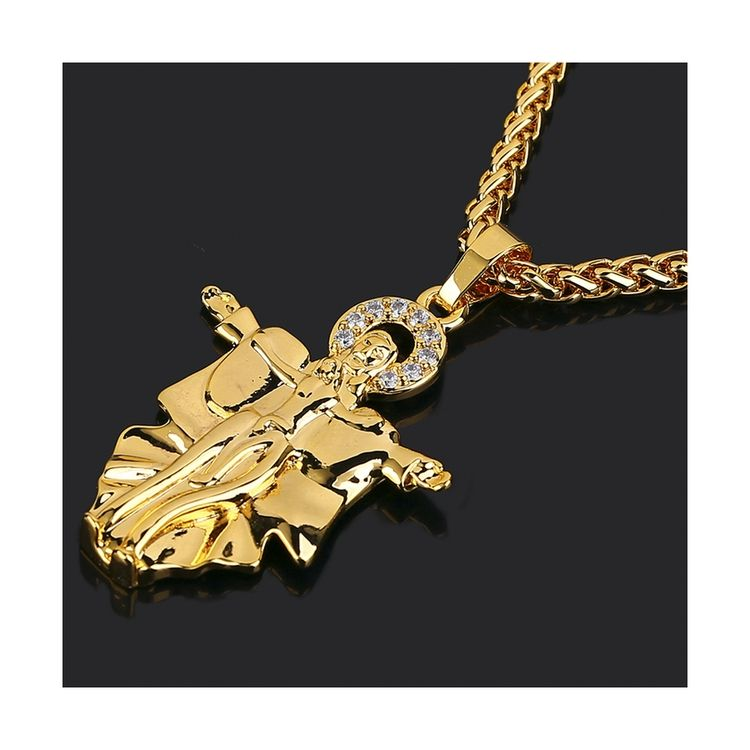 New style high quality accessories long chain 18k gold modern jewellery necklace for mens