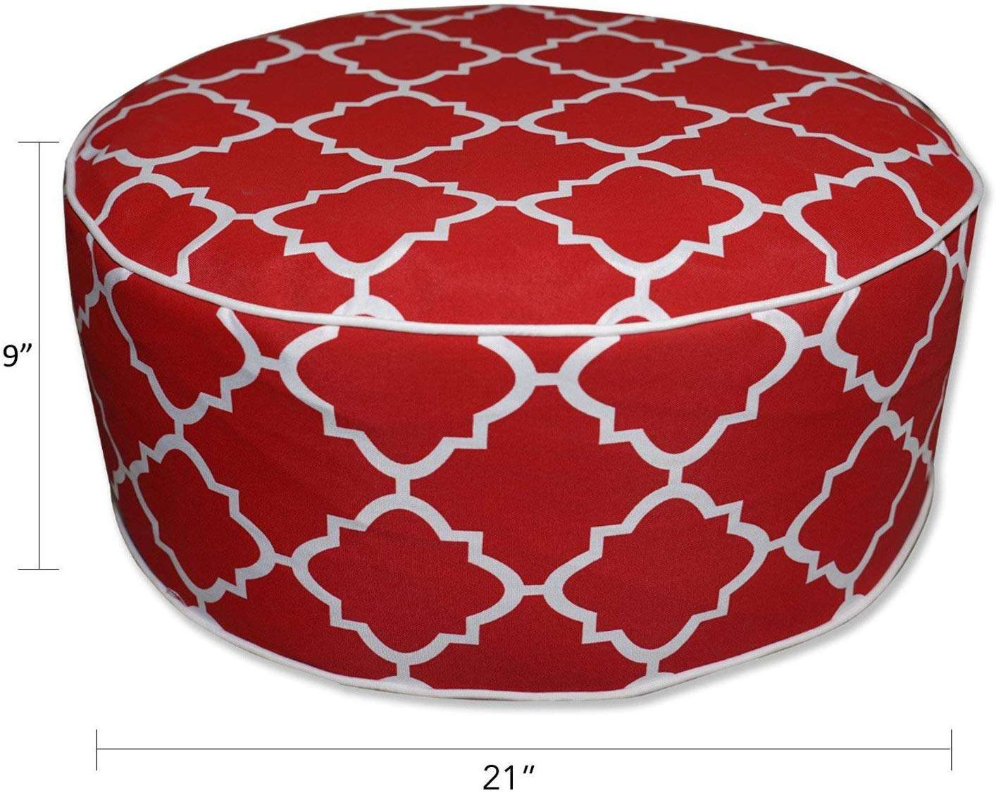 Light Blue Round Ottoman Portable Foot Rest For Patio Used For Kids Or Adults Outdoor Indoor Inflatable Footstool Ottoman