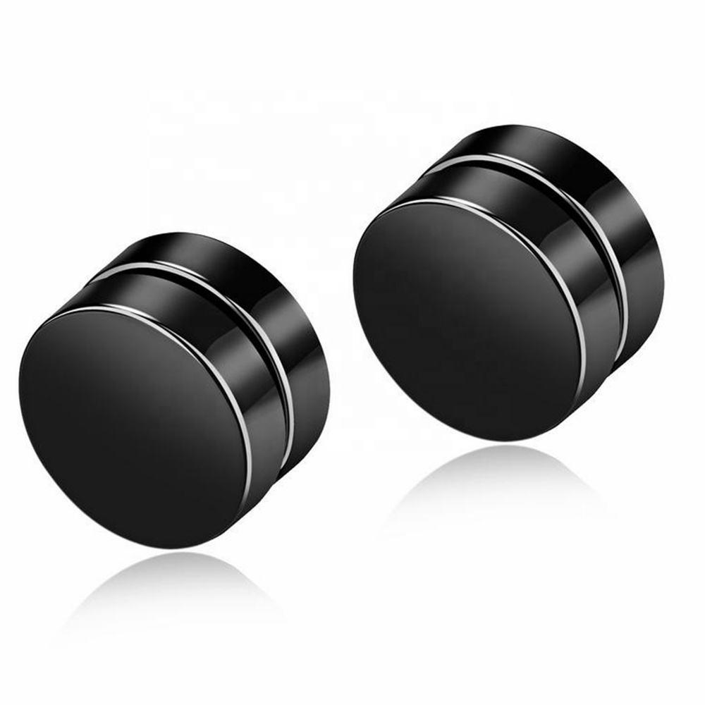 MECYLIFE Wholesale Stainless Steel Mens Magnetic Earrings Non Piercing