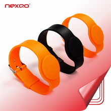 Free Samples 13.56MHZ NFC Chip MIFARE Ultralight C Silicone RFID Wristbands