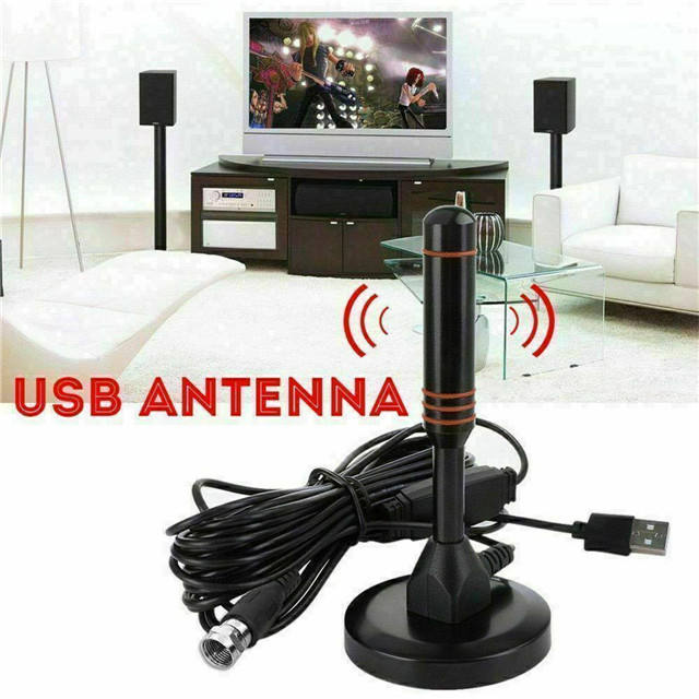 Indoor HDTV Antenna Aerial HD Digital TV Signal Amplifier Booster Cable 200 Mile