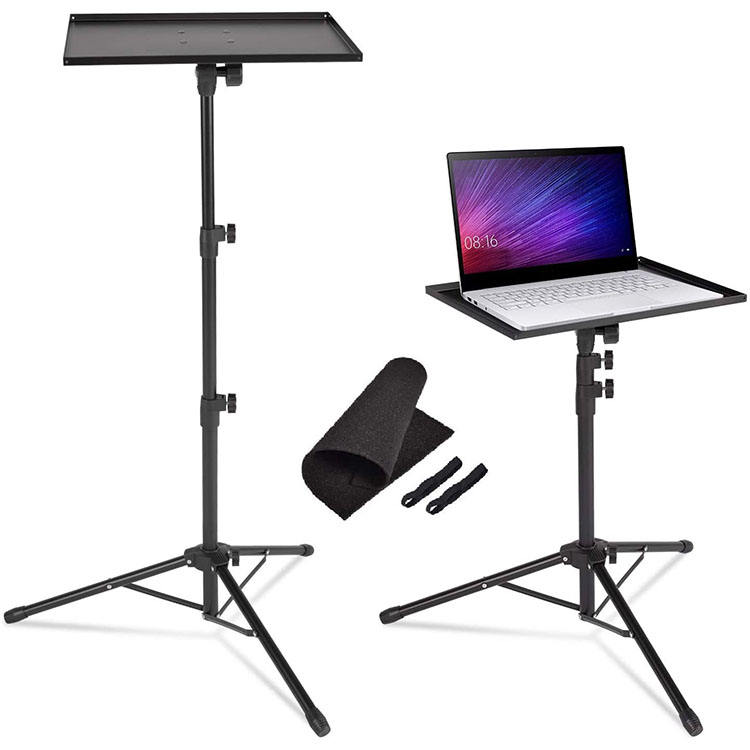 Professional Multi-Purpose DJ Tripod Stand Adjustable Laptop Projector Computer Table Floor Stand