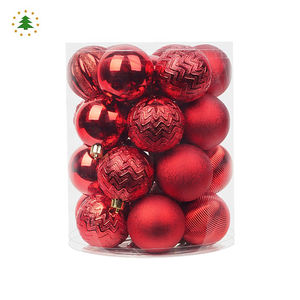 Merry xmas festival ornament sphere large kids red plastic decorating christmas big balls