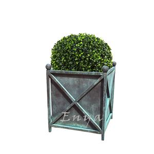Metal Square Planter box de jardin, Patio Garten Iron Flower Pot