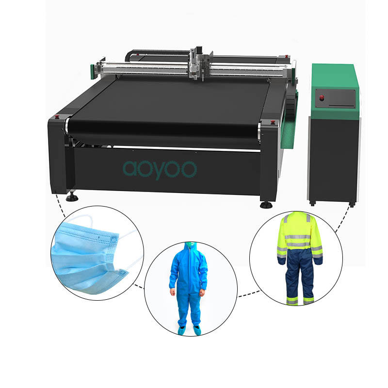 AOYOO easy operation fast speed apparel pattern cloth+cutting+machines bag cutting machines