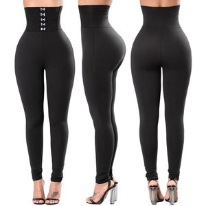Women Opaque Black Designer Party Leggings With High Waist Size MLXL