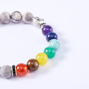 Wholesale High Quality Energy Beads Stretch Bracelet Bangles Healing Chakra Lucky Buddha Natural Stone Bracelet
