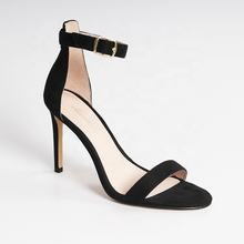 Summer Season Hot Sale Black Custom Thin High Heels  Sandals Women Shoes Heel from Guangdong  black high heel pumps