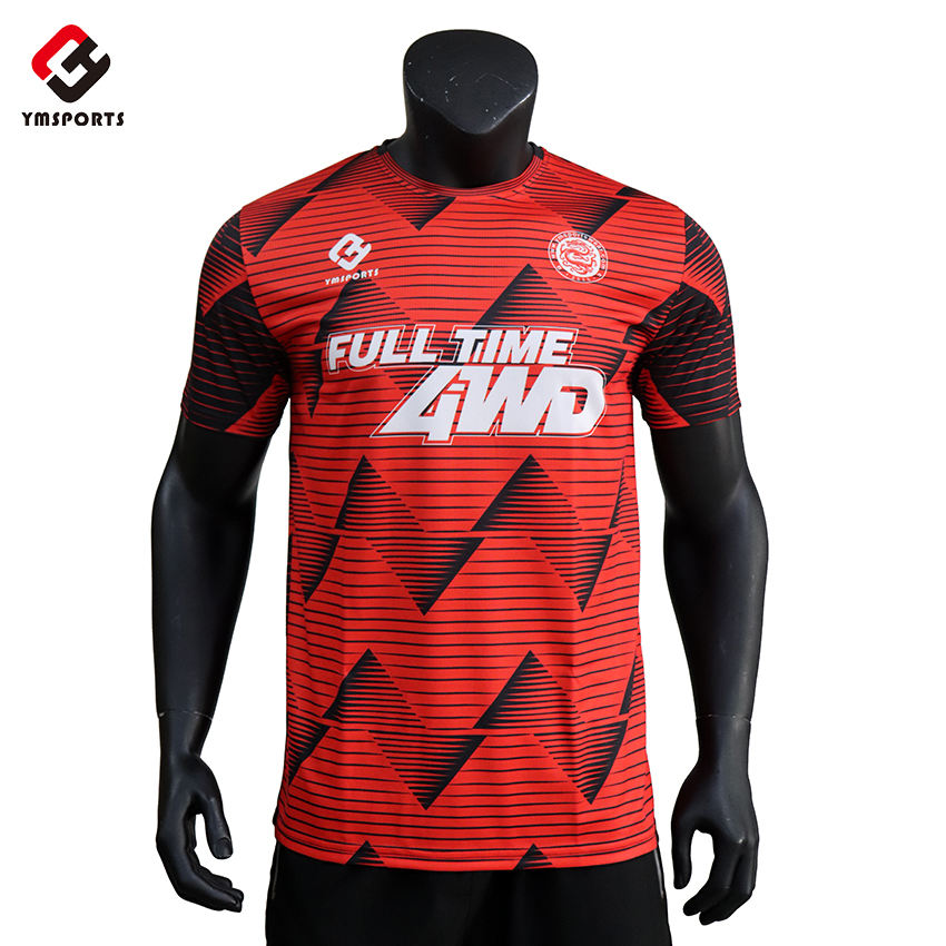 wholesale football team shirt high quality coolmax functional material soccer wear sublimation soccer jersey
