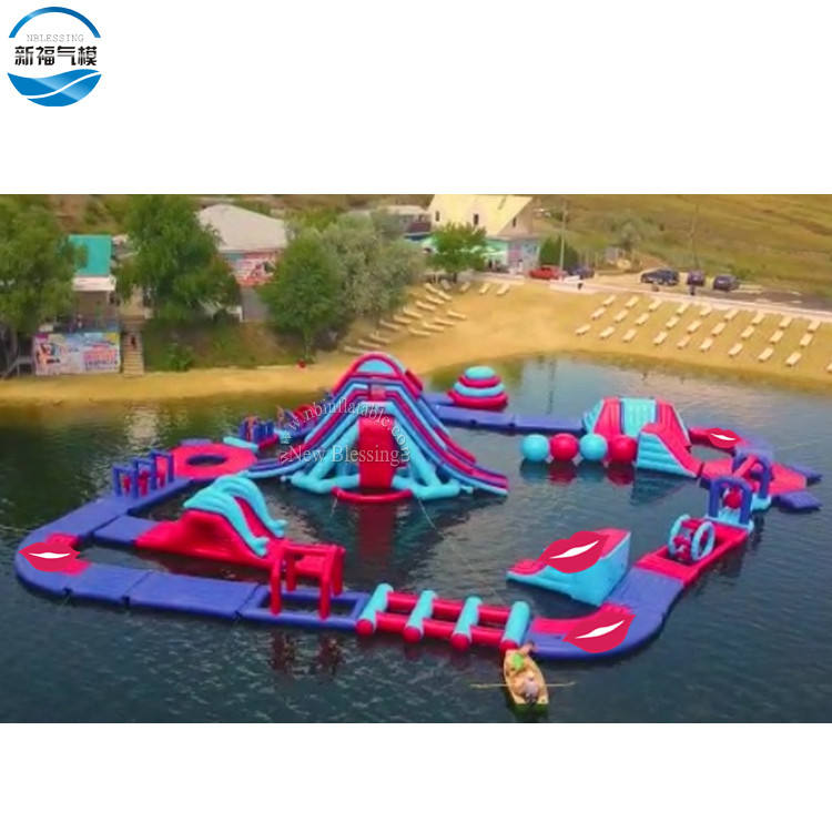 Best quality inflatable water park manufacturer, China factory inflatable floating water game for amusement park