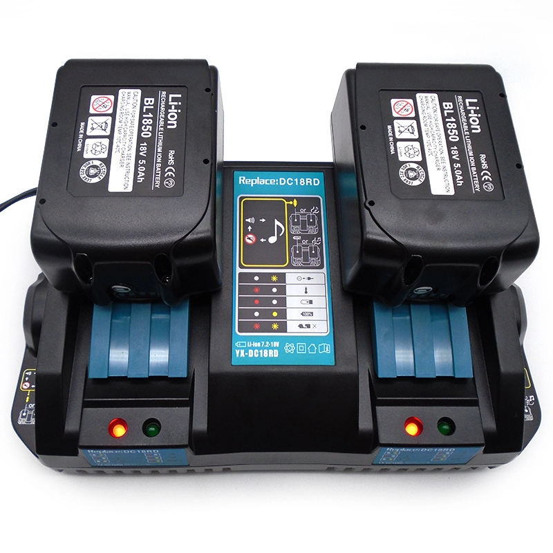 DC18RD Rapid Charger Replacement 18V Power Tool Li-ion Charger 4.5A 14.4V for Makita DC18RA DC18RC with USB Port