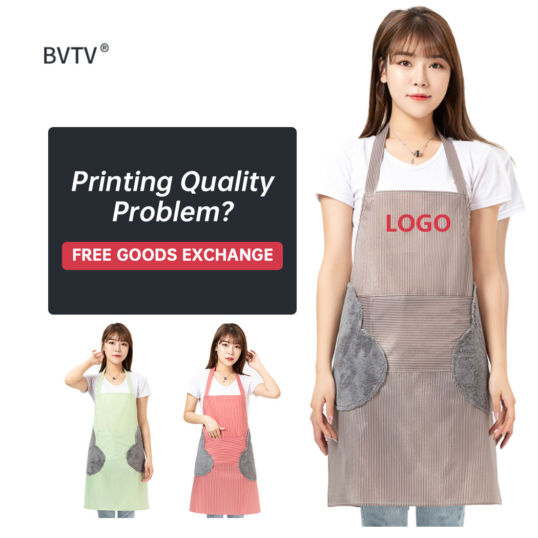 Customized Logo Home Bbq Kitchen Waterproof Apron