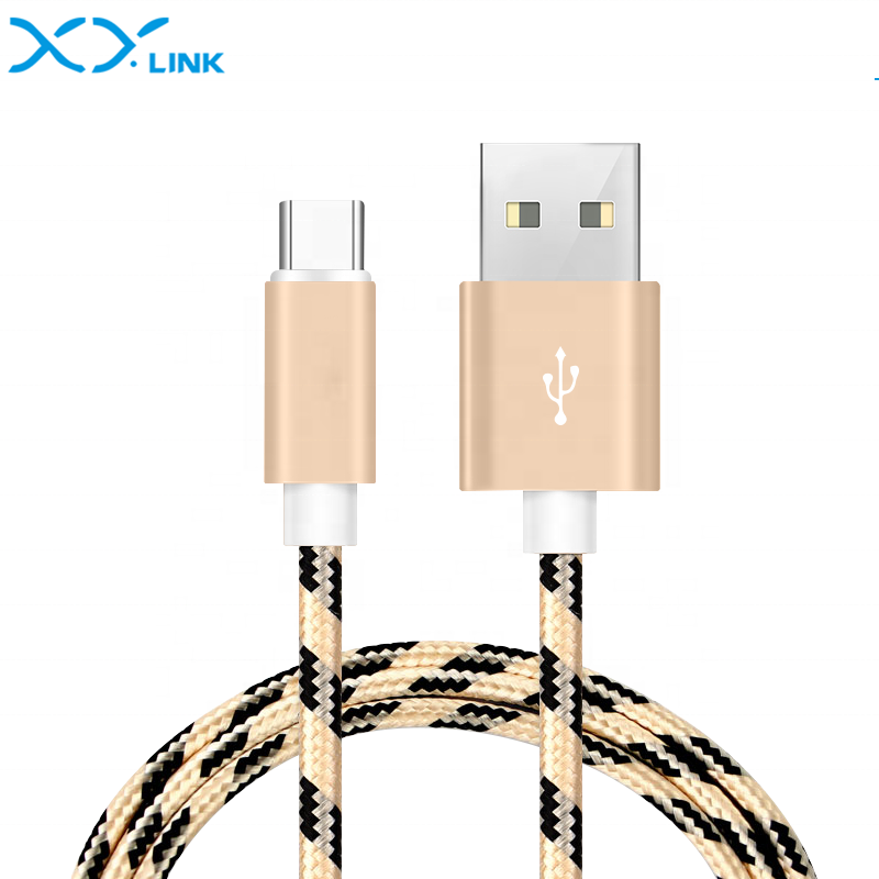 Fast Charging 6FT 2M Nylon Braided USB-C Charging Sync Data Cable USB Type C Cable