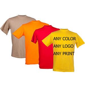 Custom LOGO printed cotton t-shirt white blank plain men tshirt with LOGO
