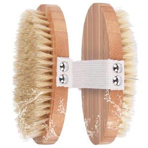 Amazon hot selling Soft Natural Bristle Dry Skin Body Brush wooden brush