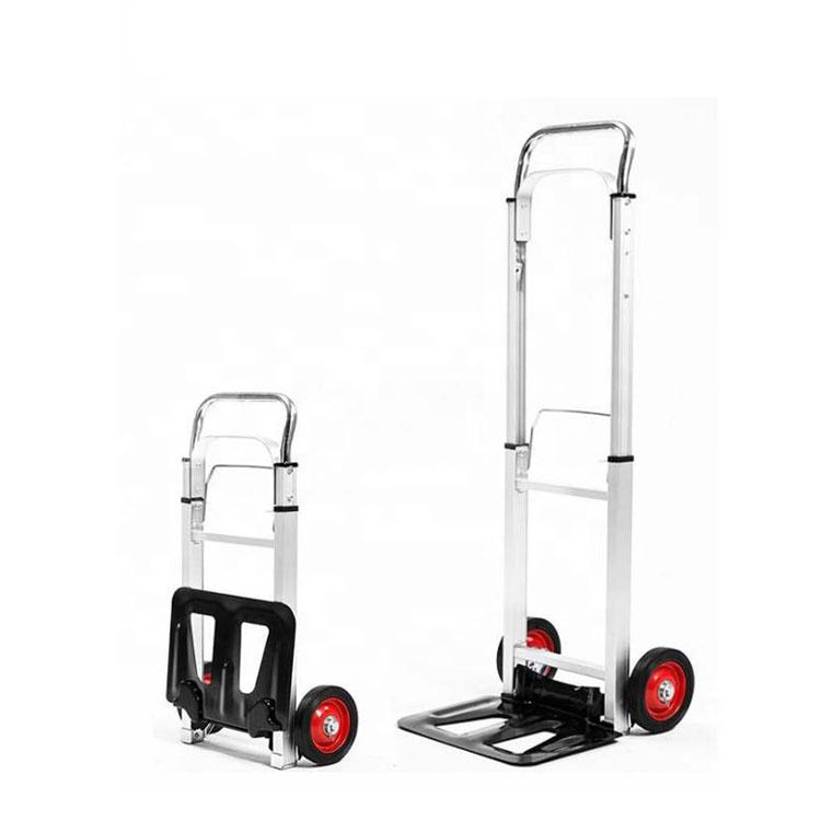 New Design Lightweight Aluminum Alloy Portable Folding Luggage Hand Trolley