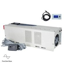 PASSPOWER  6000W Pure Sine Wave power Inverter with LCD 24v Dc 120v ac 6kw for solar power system UPS hybrid Converter