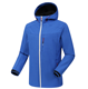 OEM Eco-friendly Fleece Lining Black Blue Hooded Waterproof Windproof Outdoor Clothing Winter Coats Hardshell Jacket For Men