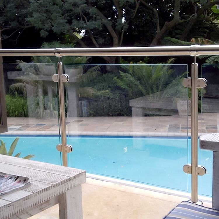 Stainless Steel Outdoor U Channel Glass Railings Balustrade Prices