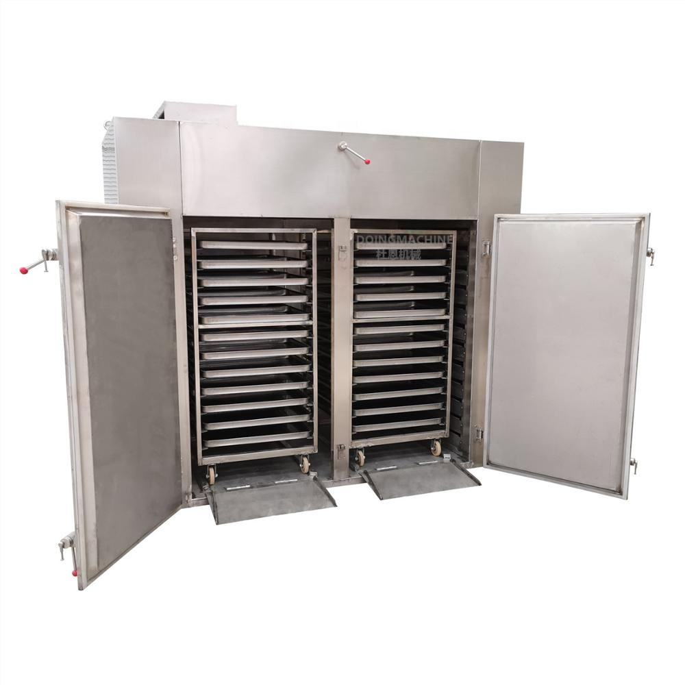 Industrial hot air tray dryer
