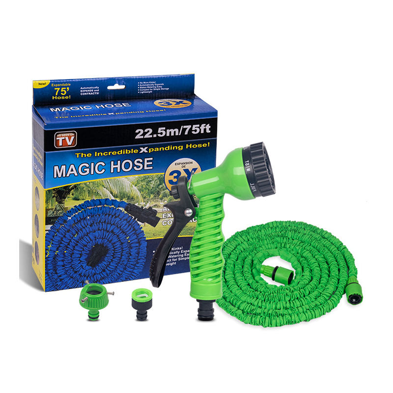 Expandable Magic Flexible Garden Hose To Watering With Spray Gun Garden Car Water Pipe Hoses Watering 25-200FT