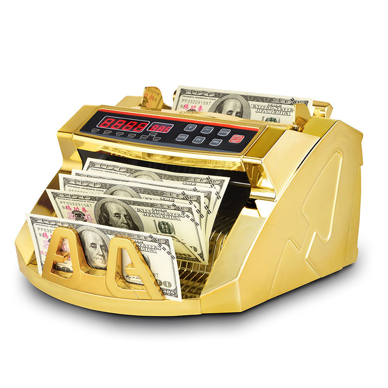 The new multi-currency euro banknote gold plated money detector bill counter money counter
