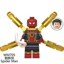 Super hero legoes Captain Marvel The Endgame mini action figures minifigs Spiderman Far from home Building Blocks for Christmas
