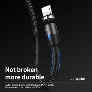 KUULAA OEM Recharge Rapide pour Téléphone Portable 3M Micro USB Tressé 2.4A Type C Câble Magnétique Micro Câble Usb Pour iPhone