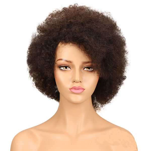 Wholesale brazilian human hair wigs machine made wigs vendor afro kinky short hair wigs for black women