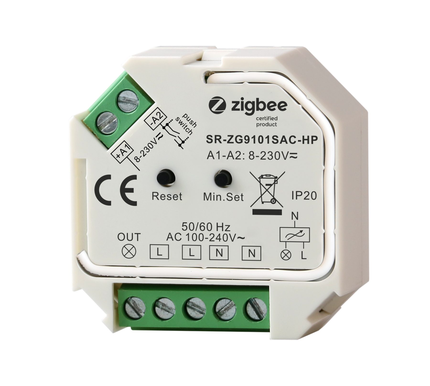 200W Zigbee Nirkabel Remote Control Leading Edge Triac Dimmable Cc Led Driver