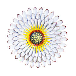 12 Inch Metal Sunflower Wall Art Hanging Sculptures for Fenc