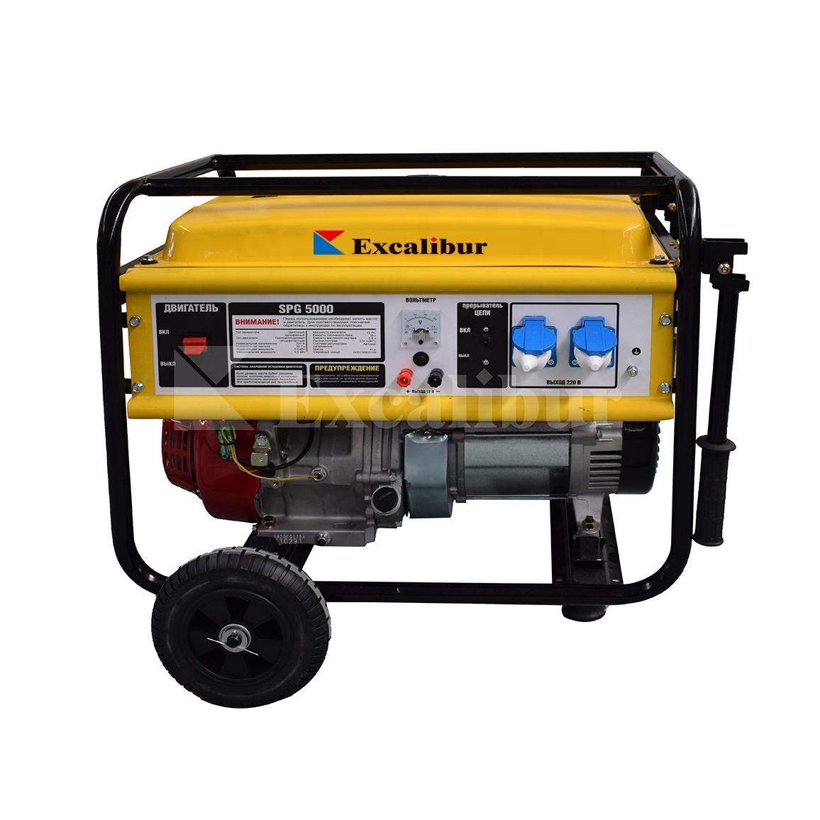 Open frame design air cooled gasoline portable generator with 15hp petrol engine and copper alternator