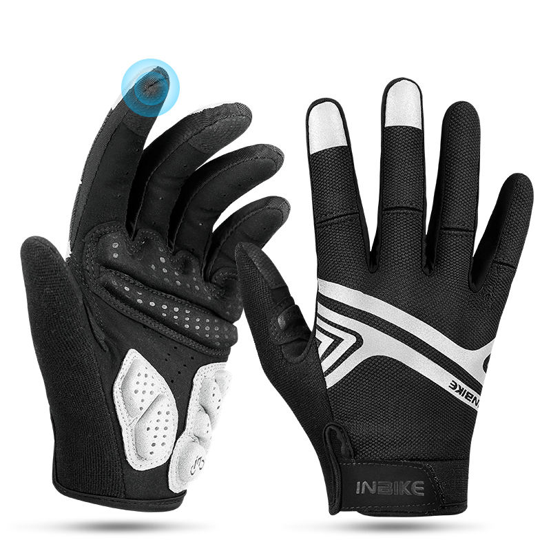 Brand Sports Racing GEL Full Finger Fitness Leather Cycling Bike Bicycle Gloves