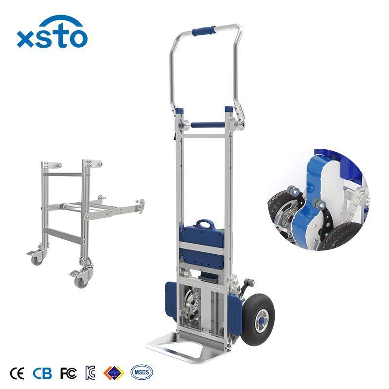 Hot sale 200kg big capacity automatic hand truck electric stair climber trolley