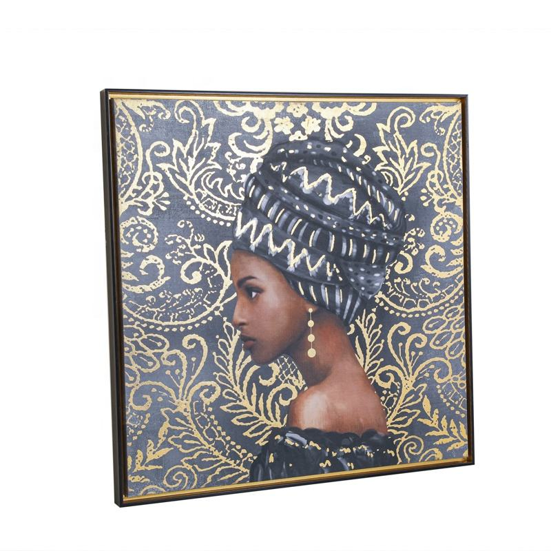 Africa Wall Art Posters and Prints home decor black girl magic Portrait Painting wall picture on canvas